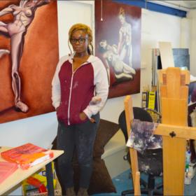 Painter Adelaide Damoah