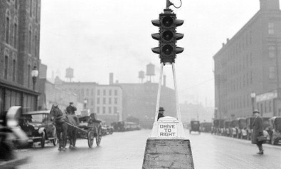 First Traffic Lights London
