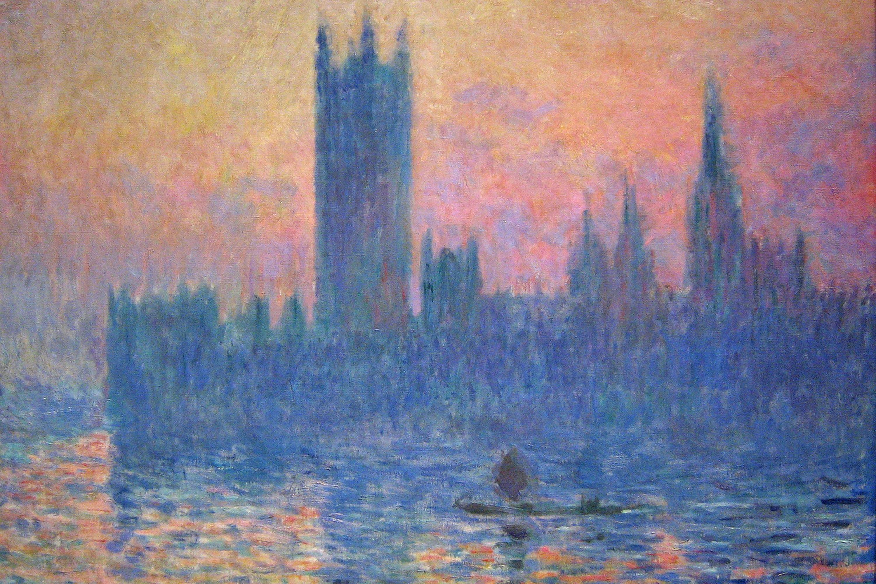 Claude monet painting london what 39 s hot london for Monet home