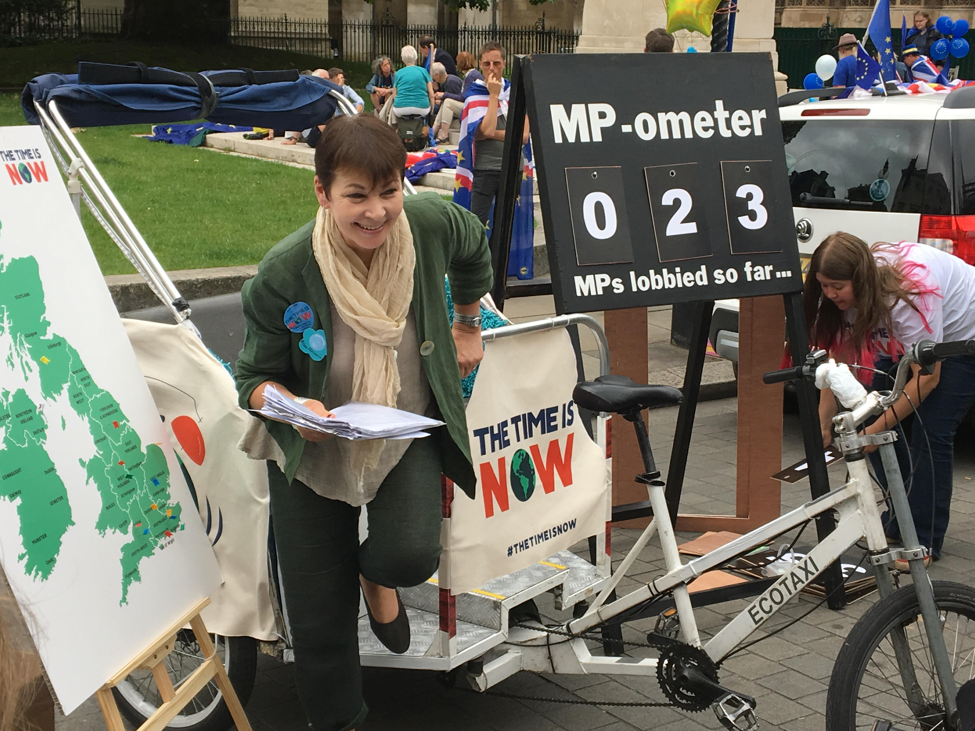 Green MP Caroline Lucas gives support to Climate Coalition lobby