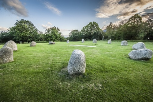 Stone circle image for article about Hilly Fields Stone Circle