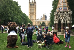 #TimeIsNow protestors lobby Parliament
