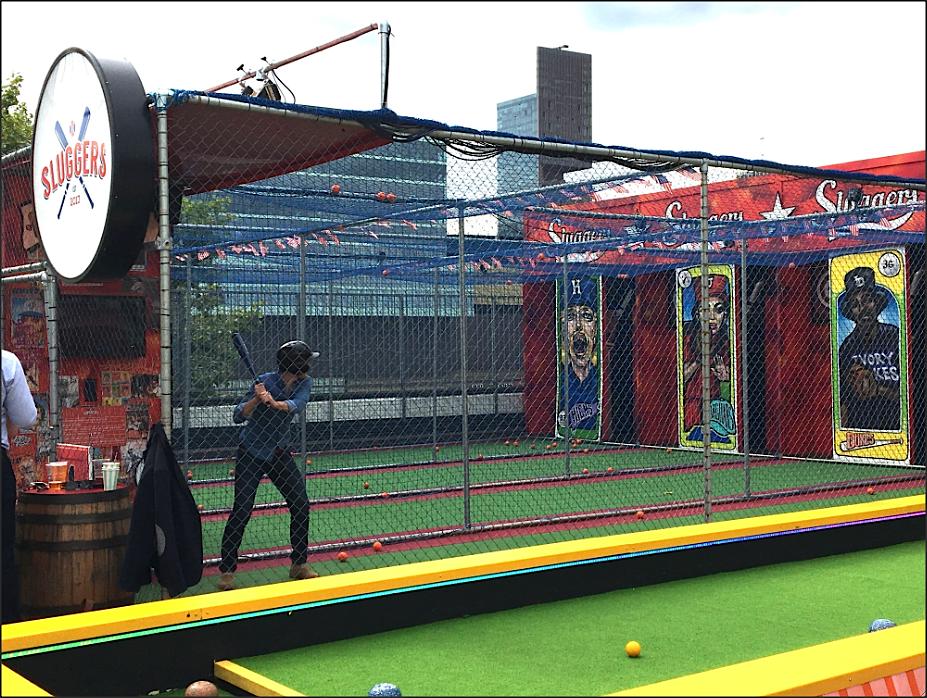 Roof East, Stratford, Sluggers baseball