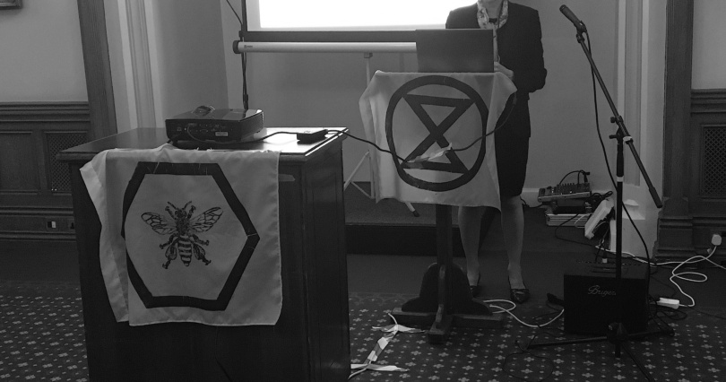 Extinction Rebellion Private Members Bill and Heading for Extinction talk in Parliament