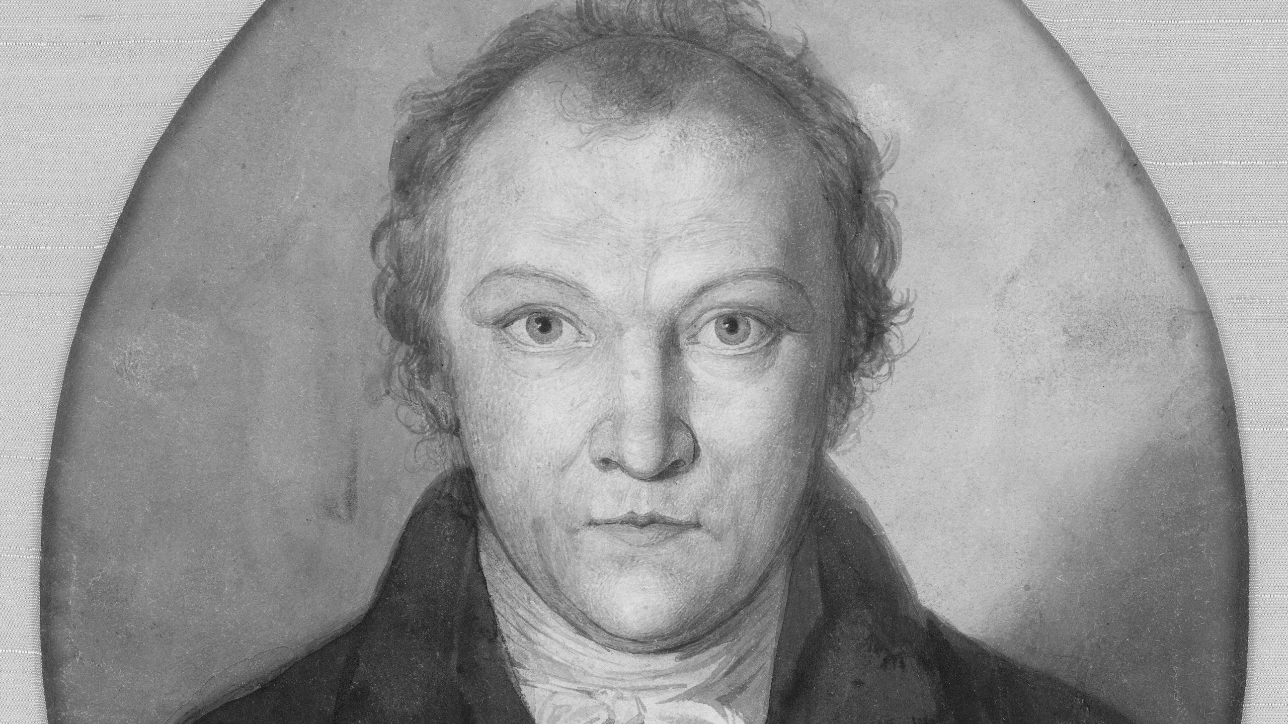 William Blake, self portrait of the artist