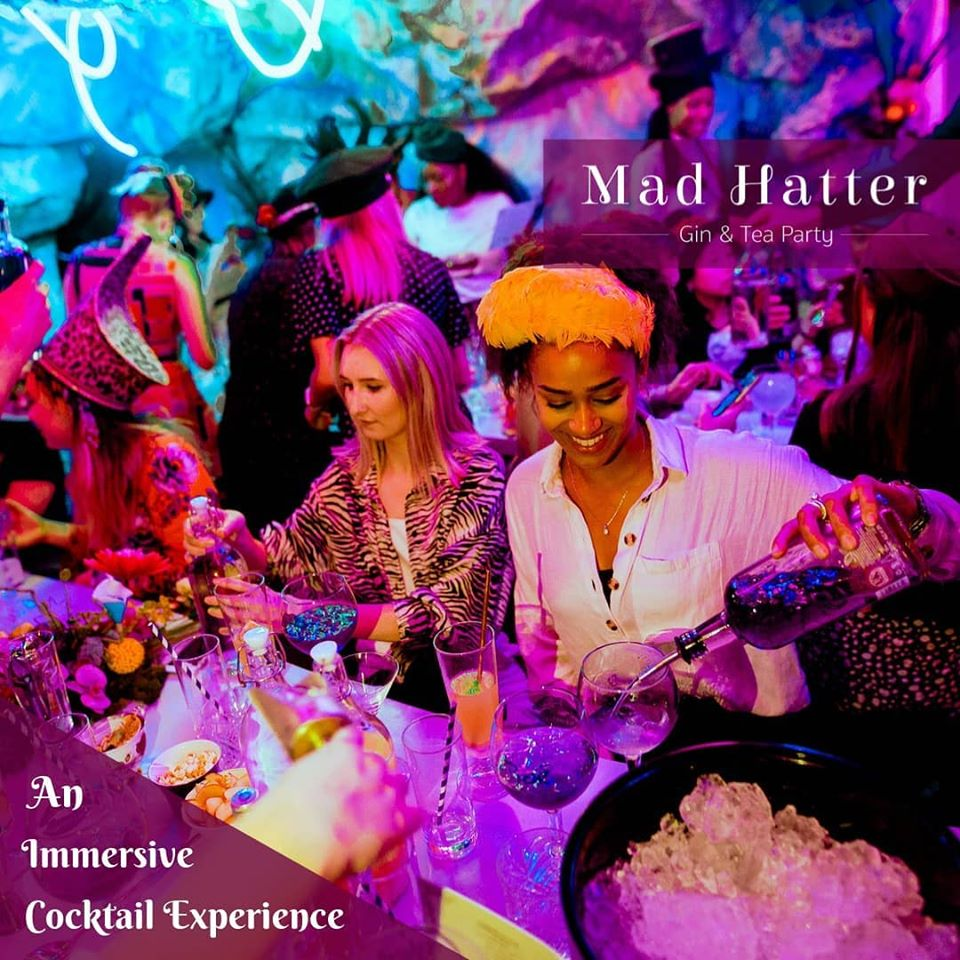 Madhatters Gin and Tea Party, cocktails, immersive theatre