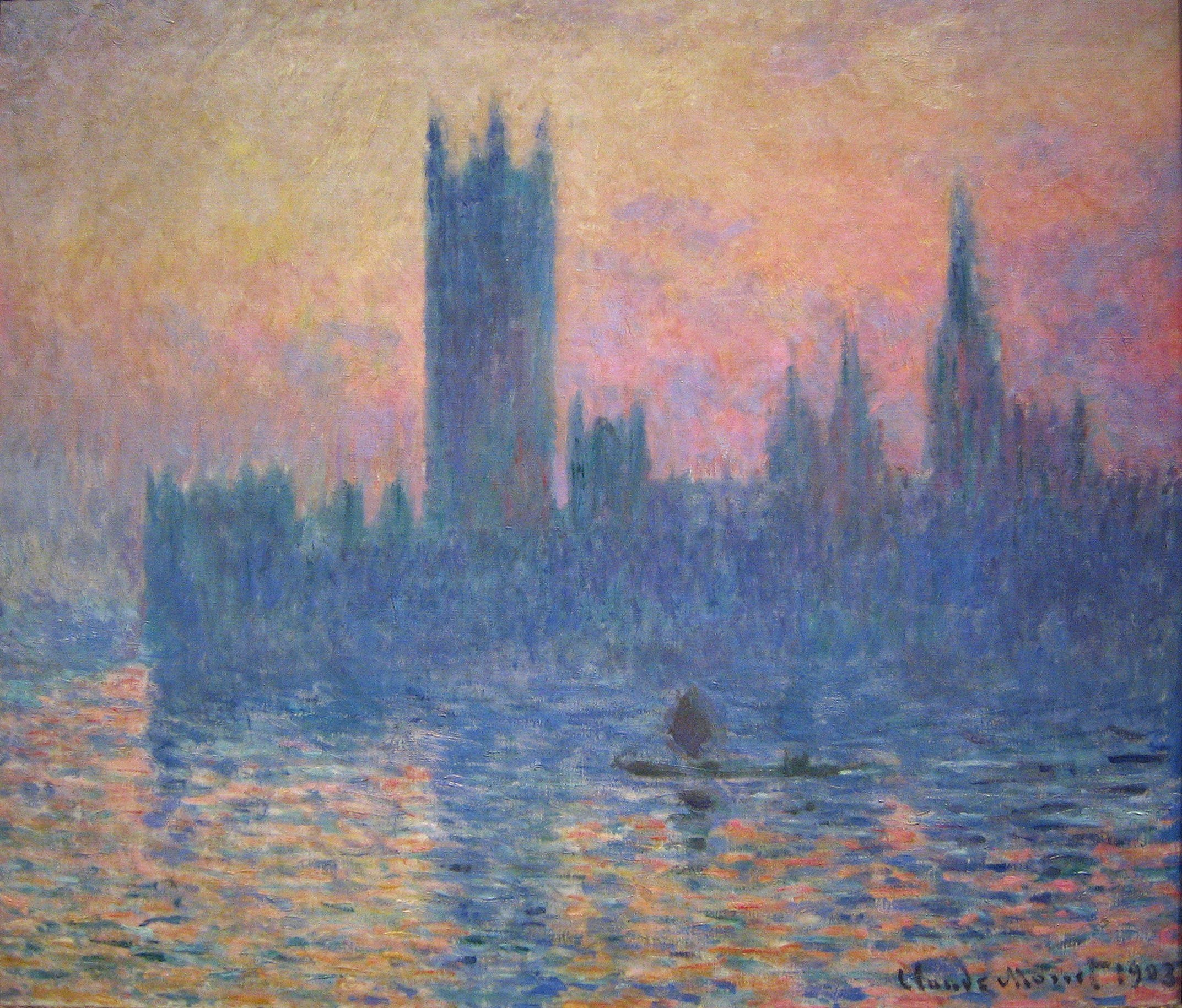 Claude Monet, The Houses of Parliament, sunset