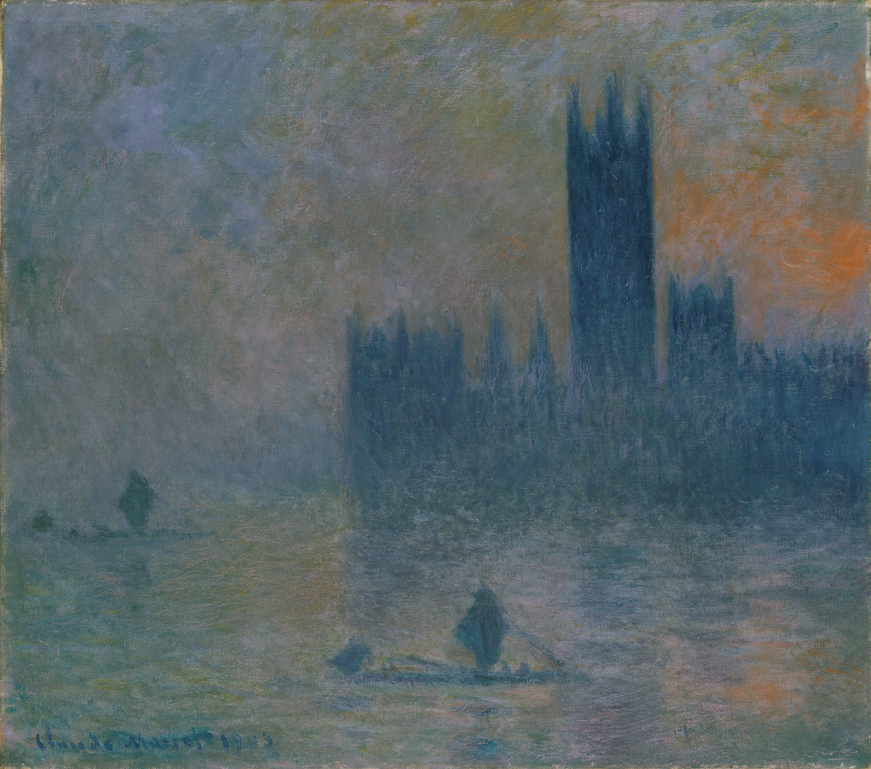 Houses of Parliament, fog