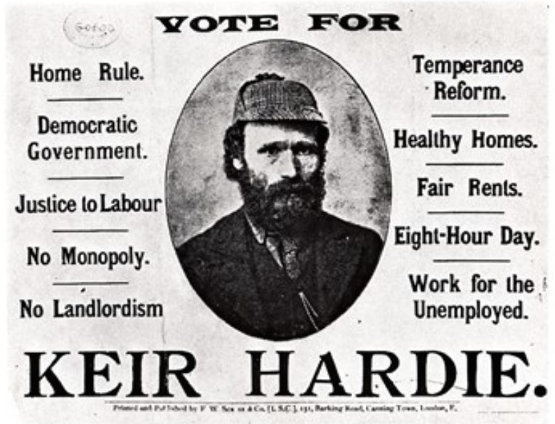 Keir Hardie, West Ham MP, founder of Labour Party