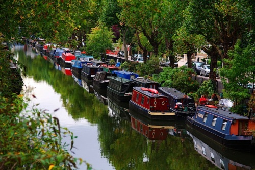 Regents Canal, London's waterways, waterside dining